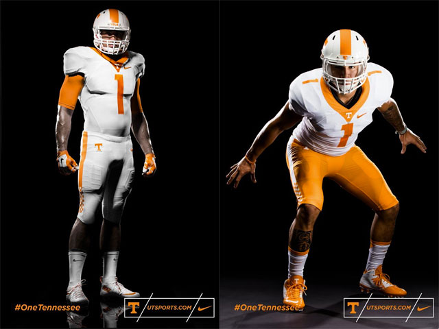 Tennessee and Nike promised a splashy debut for the Volunteers' new uniforms  and delivered as expected Wednesday. Via the Vols' official Twitter feed  and ...
