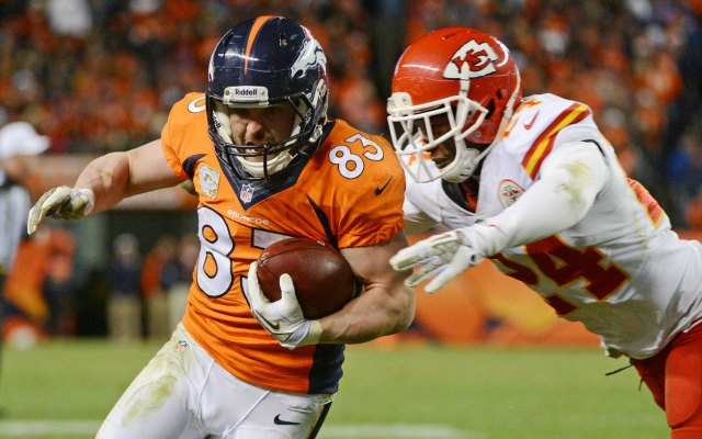 Wes Welker on Thursday took a step toward possibly playing Sunday. (USATSI)
