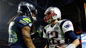 Richard Sherman, Tom Brady (Twitter)