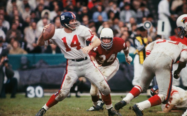 Y.A. Tittle was one heck of an older quarterback. (Getty Images)
