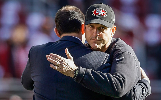 Image result for jim harbaugh jed york images