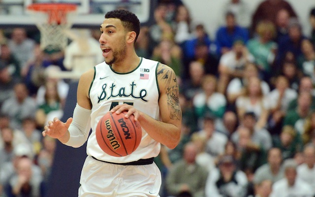 Denzel Valentine Led Michigan State With A Career High 32 Points. (USATSI)