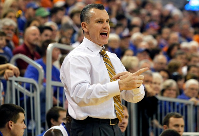Billy Donovan has led Florida to two NCAA titles, and the probability of a third is growing.  (USATSI)