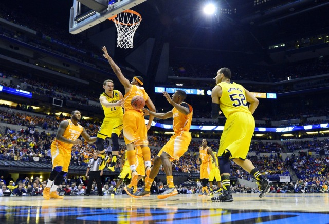 Michigan's Nik Stauskas and Derrick Morgan took it to Tennessee. (USATSI)
