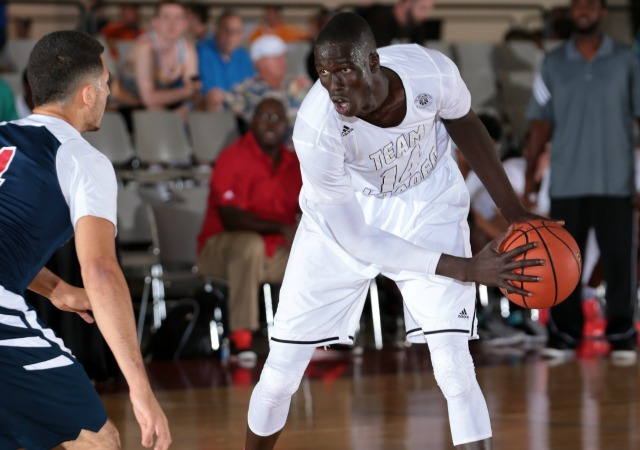 Thon Maker is being pursued by elite programs, but might not play college hoops until 2016. (Adidas)