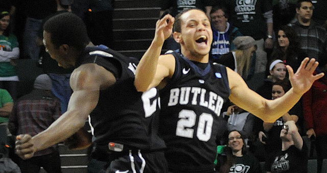 Butler reached the national championship in 2009 and 2010.