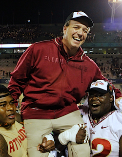 Jimbo Fisher goes for a ride.