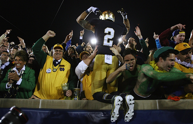 football games today on tv 2012 notre dame football score today