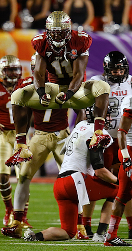 Vince Williams finished with a team-high 10 tackles, including a sack. (US Presswire)