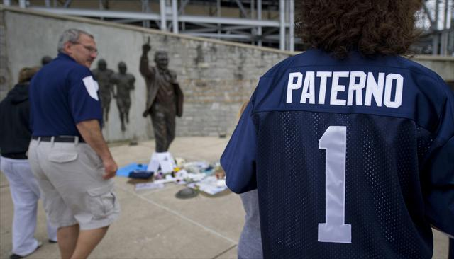 Penn State's statue of Joe Paterno remains in storage. (Getty Images)