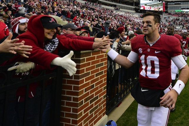 AJ McCarron's final Iron Bowl is the perfect setting for a Heisman moment. (USATSI)