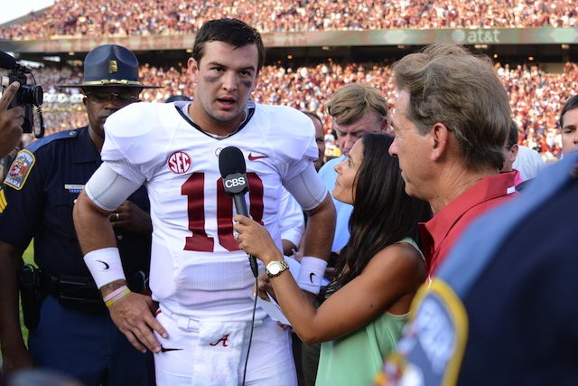 Alabama QB AJ McCarron is still undefeated as a starter on the road. (USATSI)