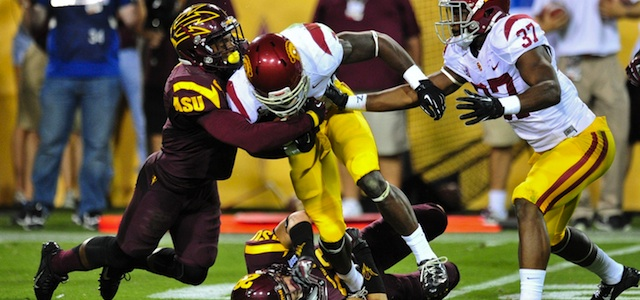 Darby two interceptions, one returned for a TD, and a fumble recovery against USC. (USATSI)