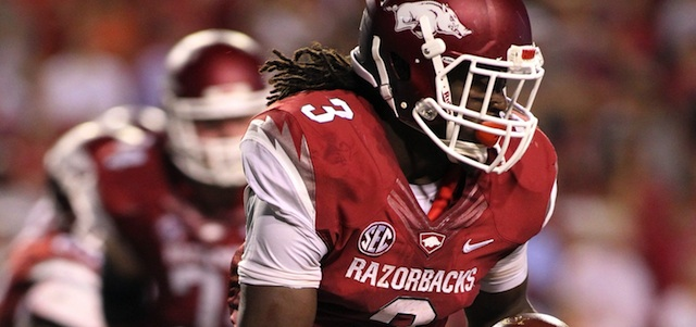 Alex Collins has four 100-yard performances in his five game career. (USATSI)