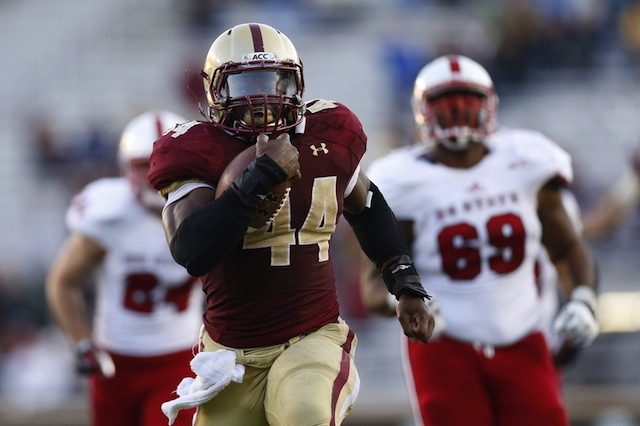 Andre Williams made the most of his last day in Alumni Stadium. (USATSI)