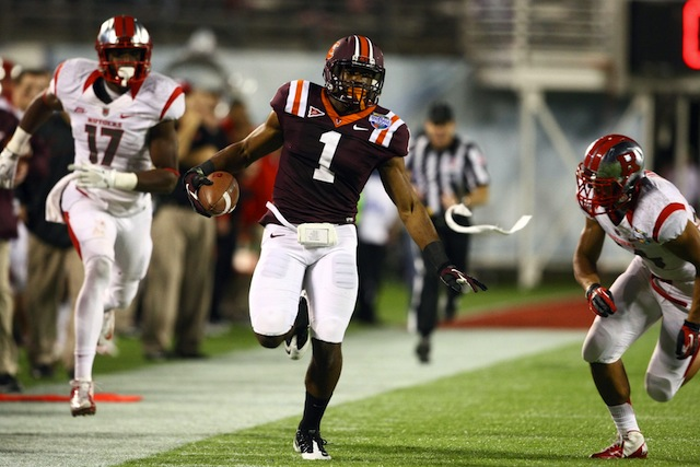 Antone Exum was named MVP of Virginia Tech's Russell Athletic Bowl win against Rutgers. (USATSI)