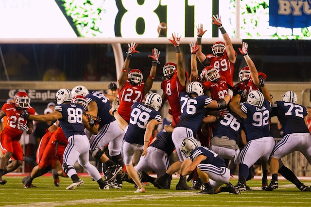 BYU and Utah's Holy War rivalry will take a hiatus after the teams meet in 2013. (USATSI)
