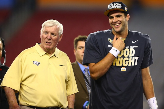Blake Bortles capped his UCF career with a Fiesta Bowl win against Baylor.  (USATSI)