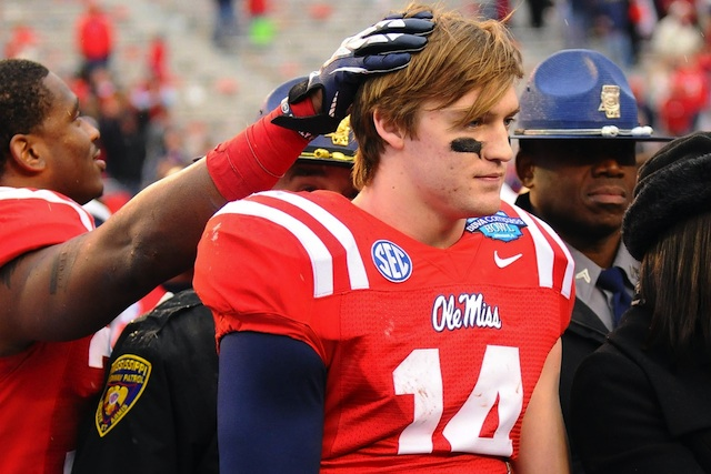 Ole Miss QB Bo Wallace threw for the first time since undergoing shoulder surgery this week. (USATSI)