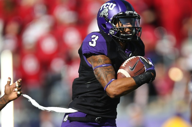 TCU WR Brandon Carter suffered a hand injury that requires surgery, but he will play against LSU. (USATSI)