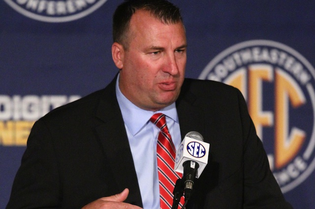 What are realistic expectations for Bret Bielema's first year with Arkansas? (USATSI)