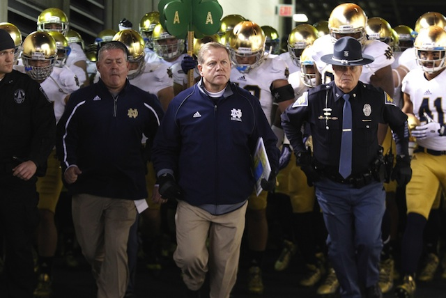 Brian Kelly joined the Eye On College Football Podcast to discuss Notre Dame's 2013 season.  (USATSI)