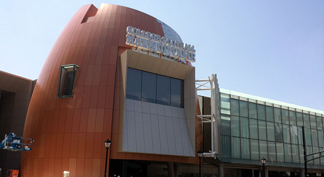 The College Football Hall of Fame from the outside. (Provided)