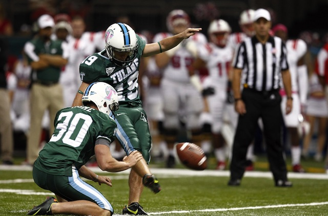 Tulane kicker Cairo Santos headlines the watch list after winning the award for his perfect place-kicking performance in 2012. (USATSI)
