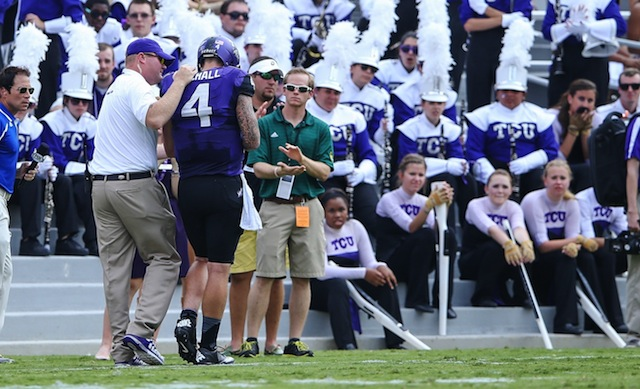 Casey Pachall left the game against Southeastern Louisiana with a left arm injury. (USATSI)