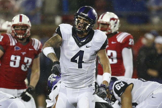 TCU QB Casey Pachall spoke to the media for the first time since his indefinite suspension in October 2012. (USATSI)