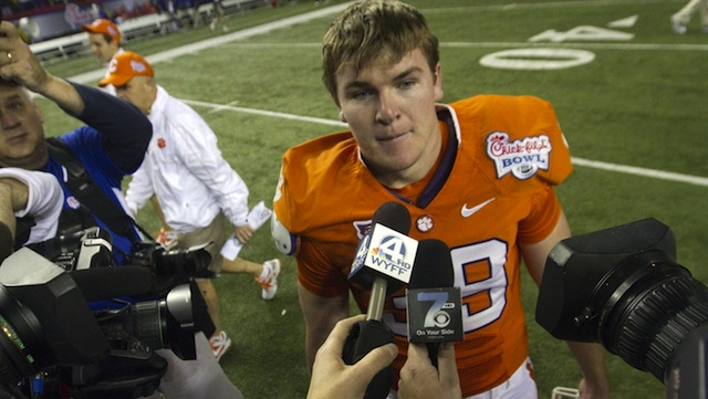 Chandler Catanzaro (pictured above in 2012) provided 16 points in the 40-27 win at Maryland. (USATSI)