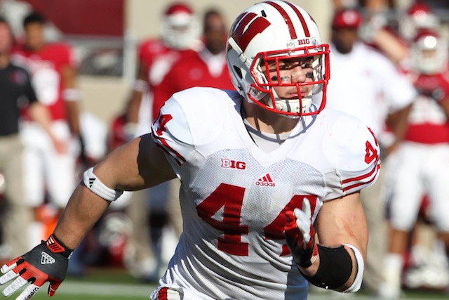 Wisconsin linebacker Chris Borland is one of several players held out from Saturday's spring game. (USATSI)
