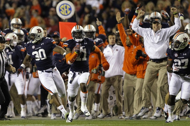 Auburn's win shows us one thing: college football fans will never stop arguing.  (USATSI)