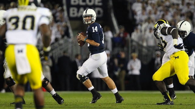Hackenberg overcame two interceptions to lead Penn State to an overtime win. (USATSI)