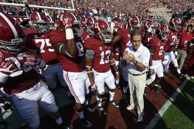 Alabama's grip on the SEC West will tighten if the Tide can beat LSU at home on Saturday. (USATSI)