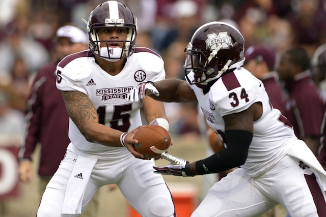 Mississippi State might be without Dak Prescott (No. 15) on Saturday against Alabama. (USATSI)