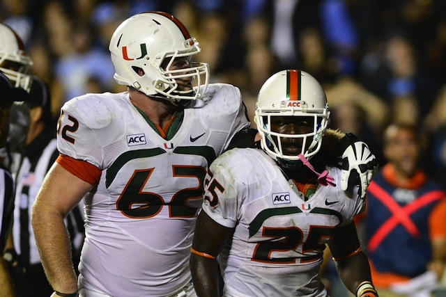 Dallas Crawford ran for 137 yards and two touchdowns to lead Miami to a win with Duke Johnson injured. (USATSI)