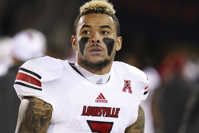 Louisville leading receiver Damian Copeland has the option to return for a sixth year in 2014. (USATSI)