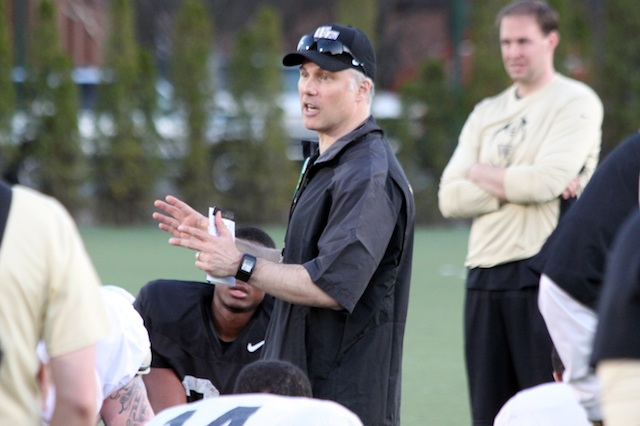 Dave Clawson wrapped his first spring practice with Wake Forest on Saturday.  (USATSI)