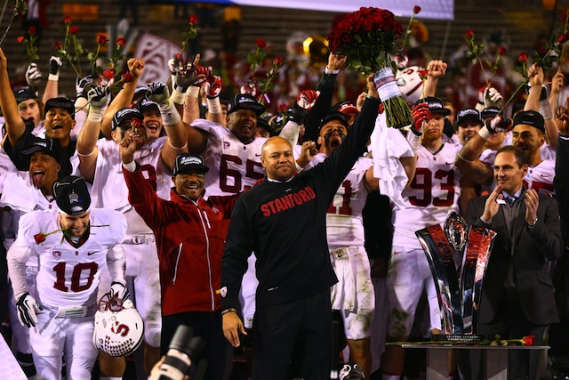 David Shaw is flattered by annual NFL interest, but has no plans to leave Stanford anytime soon.  (USATSI)