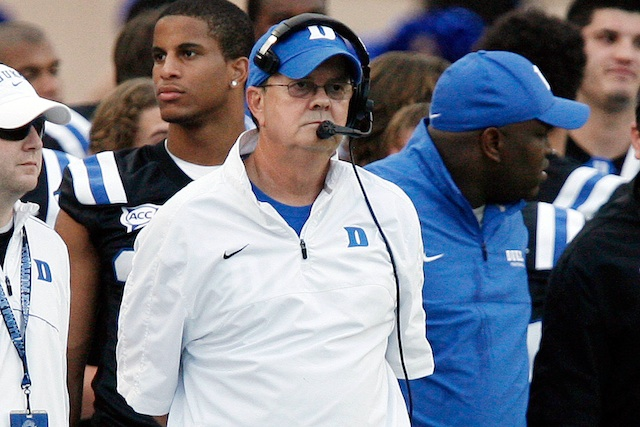 David Cutcliffe earned 2012 ACC Coach of the Year honors after leading Duke the Belk Bowl. (USATSI)