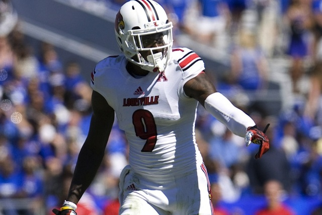 Louisville WR DeVante Parker's status for Thursday's game against Rutgers is day-to-day. (USATSI)