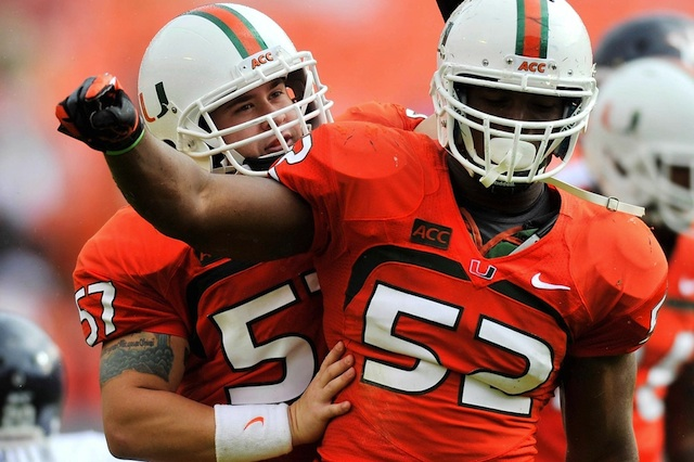 Denzel Perryman led Miami with 108 tackles in 2013.  (USATSI)