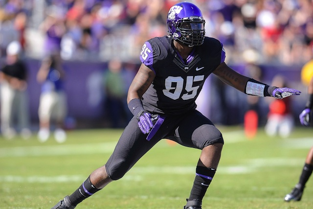 TCU defensive end Devonte Fields (foot) will not play against SMU on Saturday. (USATSI)