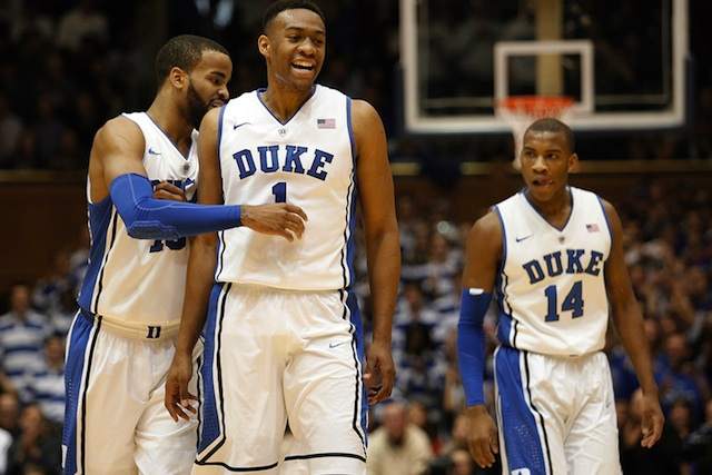 Jabari Parker led Duke with 23 points and seven rebounds.  (USATSI)