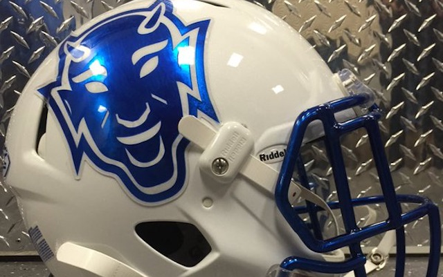 LOOK  Duke s awesome Pinstripe Bowl throwback helmets are devilish 8c325462d