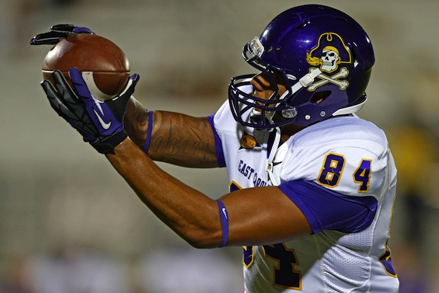 East Carolina senior Justin Jones was one of two WR's ruled ineligible this week. (USATSI)
