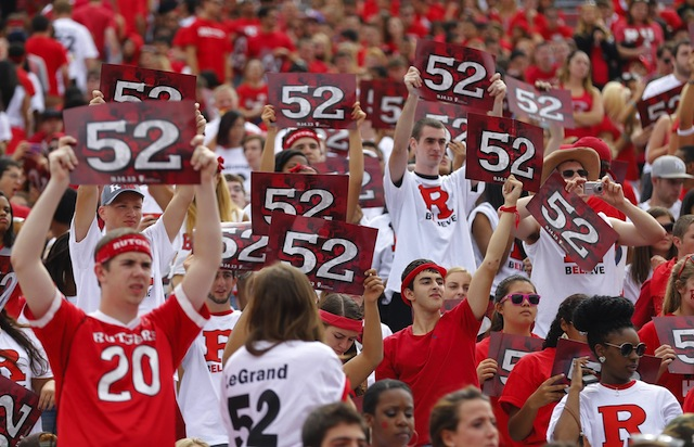 Eric LeGrand's No. 52 is the first number to be retired in Rutgers' 144-year history. (USATSI)