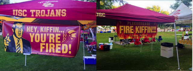These USC fans appear to prefer smoked meats and a fired Kiffin. (Twitter.com)