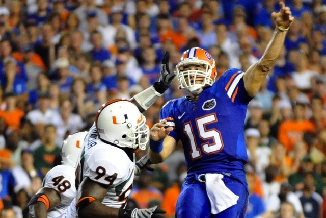Florida and Miami have not played since Tim Tebow led the Gators to a victory in 2008. (USATSI)